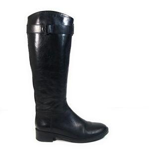 Tory Burch Women Riding Tall Knee Buckle Boots 9 M